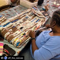 Off the Canvas LIVE! Plastic Bag Crochet, Arts And Crafts, Contemporary, Live, Canvas, Tela, Canvases, Art And Craft, Art Crafts