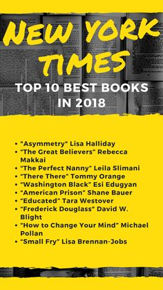 Reading all of the books on the 2018 New York Times top 10 is one of the ways I hope to achieve reading 48 books this year.