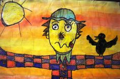 First we read the story, The Scarecrow Boy and discussed the fierce and silly faces made by the main character.  I had students create their own scarecrows with crayon, outlining everything in black.  Then they painted a warm color watercolor wash over the entire thing- starting at the top and working their way down.  Posted by kristin thomas at 11:01 PM 0 comments  Labels: 3rd Grade