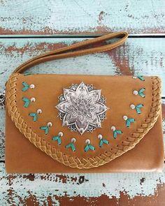 Wild Flower Leather Wallet