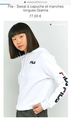 359223323934c Fila Sweat, Womens Clothing Stores, Clothes For Women, Fila Outfit, Hoodie  Outfit