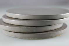 Round Gray Concrete Coasters.