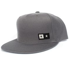 738232b561a Fourstar Bar Patch Snapback Hat (Charcoal)  26.95