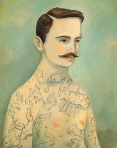 Tattooed ladies & gents by Emily Winfield Martin, on the blog today: http://www.artisticmoods.com/emily-winfield-martin/