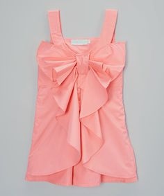 Look at this Pink Big Bow Sleeveless Dress - Infant, Toddler & Girls on #zulily today!
