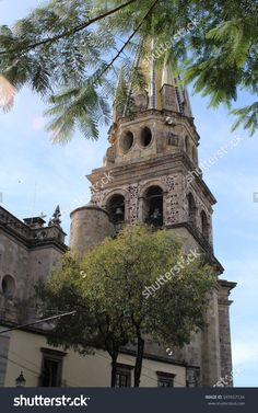 Guadalajara, Jalisco / Mexico - December 2012: View from one side of The Guadalajara Cathedral.   #stock #stockphotos #stockimages #background #photos #mexico #travel