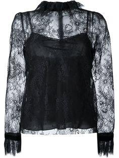 PHILOSOPHY DI LORENZO SERAFINI Ruffled Neck Lace Blouse. #philosophydilorenzoserafini #cloth #blouse