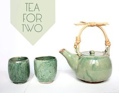 Ceramic Tea Set Japanese style handmade tea pot 2 by JenniOhCrafts, €40.00