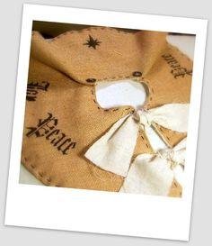 Burlap Tree Skirt STARRY NIGHT Blanket lined by pillowsbytamilyn, $57.00