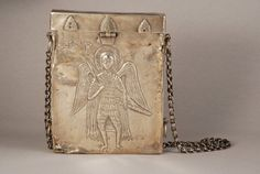 Icon box, XIXth cent., Armenia by Armenian Museum of France on Flickr.Icon box, XIXth cent. Silver. Archange Michel representation. Presented on www.le-maf.com