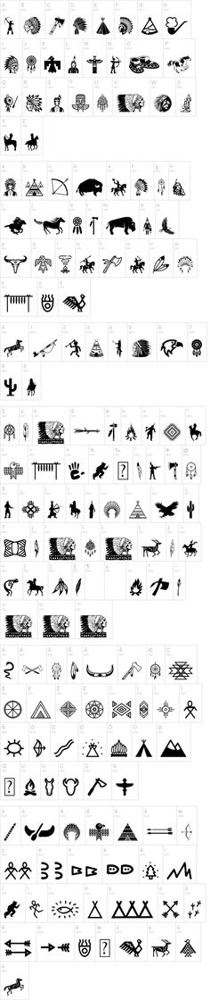 Native American Indians font set by Woodcutter 100% free at dafont.com