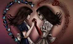 """Alice: Madness Returns artwork, 'My Dark Side' -- """" 'Seek and ye shall find', they say...but they don't always say what you'll find...."""""""