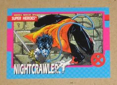 X-Men Series 1 (Impel 1992) Card #6 Nightcrawler VG