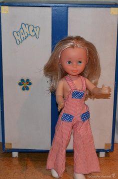 PETO DE NANCY DE FAMOSA-CONJUNTO GRANJA-AÑOS 70 (Juguetes - Muñeca española Moderna - Nancy y Lucas, vestidos y accesorios)