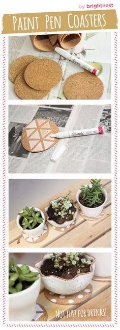 Would be a fun doodling project for the kids! #DIY coasters