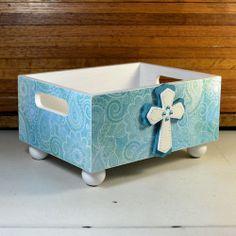 Large decorative storage bin countertop organizer by ArtBySunfire, $28.00