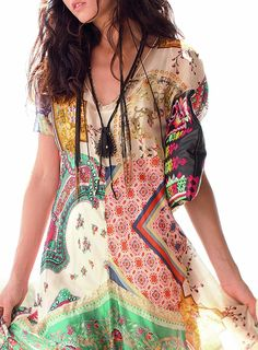 Long Patchwork Dress - Clothing