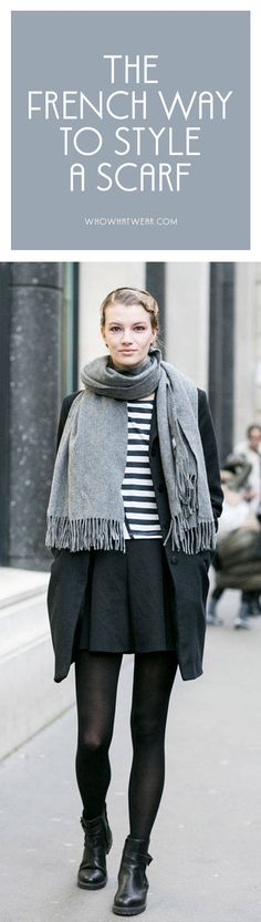 The Accessory I Saw Every Parisian Girl Wearing How French women wear scarves Fashion AccessoriesTrending: How to wear a sFrench Girl Accessories G Parisienne Chic, French Girl Style, French Chic, French Fashion, Look Fashion, Womens Fashion, Ladies Fashion, Fashion Fashion, Fashion Trends