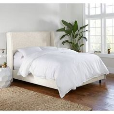 Lyster Platform Bed & Reviews Upholstered Platform Bed, Upholstered Beds, Wingback Headboard, Headboards, Cushion Headboard, Bed Reviews, Adjustable Beds, All Modern, Rv Camping