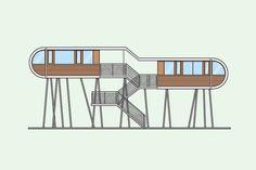 Minimalist Designer Grégory Buron Illustrates One Iconic Building Every Week