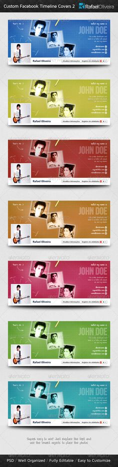 Custom Facebook Timeline Covers 2 — Photoshop PSD #pencil #modern • Download here → https://graphicriver.net/item/custom-facebook-timeline-covers-2/1501861?ref=pxcr