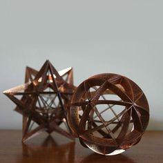 Copper platonic sculptures - Phillippa Carnemolla.