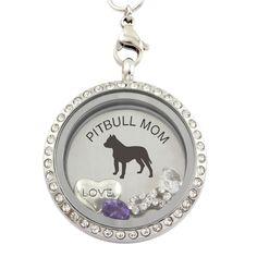 #PITBULL MOM purple silver