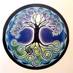 Mandala Sticker Full Moon Mandala Tree of by SoulArteEclectica