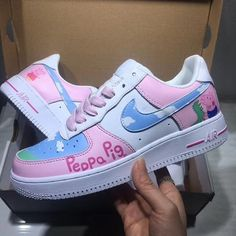 Nike Shoes OFF! Items similar to Nike Air Force 1 customs custom Air force Ones All white floral design Nike custom cute and trendy design on Etsy Cute Sneakers, Sneakers Mode, Sneakers Fashion, Fashion Shoes, Fashion Outfits, Jordan Shoes Girls, Girls Shoes, Baby Shoes, Peppa Pig Shoes