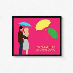 Cartel de la película les Parapluies de Cherbourg los