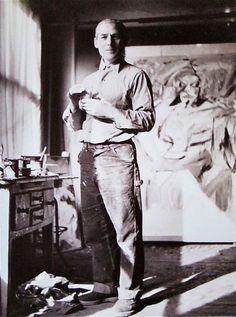 William De Kooning ~ 85 Fourth Avenue  NYC. 1952  Photo: Kay Bell Reynal via MONDOBLOGO