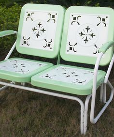Thunderbird Double Glider: Retro Patio Glider In Vintage Colors For Under  $250 Including Shipping! | House To Home | Pinterest | Gliders, Lawn  Furniture And ...