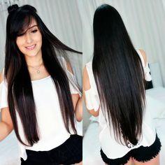 cabelo comprido preto - Pesquisa Google