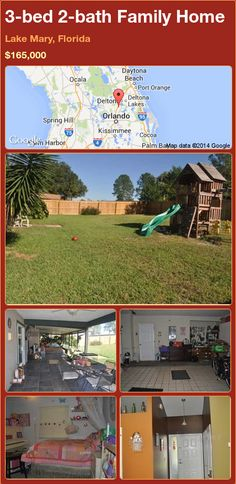 3-bed 2-bath Family Home in Lake Mary, Florida ►$165,000 #PropertyForSale #RealEstate #Florida http://florida-magic.com/properties/84834-family-home-for-sale-in-lake-mary-florida-with-3-bedroom-2-bathroom