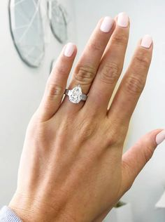 For Sale on - This incredible, signed Bvlgari ring features a GIA certified carat pear shape diamond of H color and clarity. With a beautifully cut outline Bvlgari Ring, Pear Cut Engagement Rings, Platinum Diamond Rings, Pear Shaped Diamond, Baguette Diamond, Outline, Clarity, Silver Rings, Color