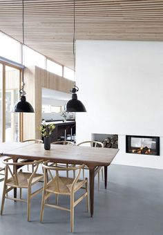 Dining Room Inspiration: 10 Scandinavian Dining Room Ideas You'll Love Dining Room Inspiration, Interior Inspiration, Style At Home, 1960s House, Dining Room Lighting, Contemporary Home Decor, Scandinavian Home, Scandinavian Dining Table, Home Interior Design
