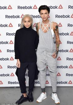 In good comapny: Ruby was seen posing for the camera with model Zoe Kravitz, daughter of r...