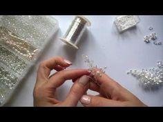 мк свадебная шпилька из ювелирной проволоки. Wedding Hair Accessories - YouTube