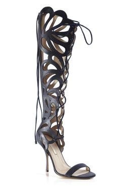 MA.JOR. shoe. Kirkwood Glittered Nappa Cut Out Stiletto Sandal at Moda Operandi