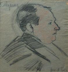 David Burliuk. Portrait of Boris Anrep. 1900-1910 Давид Бурлюк. Портрет Бориса Анрепа. 1900-1910 Guy Drawing, Doodle Sketch, Caricature, Monochrome, Doodles, Sketches, Museum, Portrait, Drawings