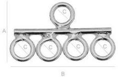 Zakończenie / Element łączący, srebro 925, EL 11 - 5XKC - zdjęcie 1