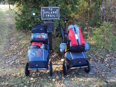 Travoy Camping Burley Trailer, Burley Travoy, Bicycle Rack, Bike Trailer, Travel Tours, What To Pack, Motorcycle Helmets, Touring, Baby Strollers