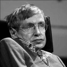 Stephen Hawking - geboren in 1942 - Brit - natuur- en wiskundige knobbel - ALS