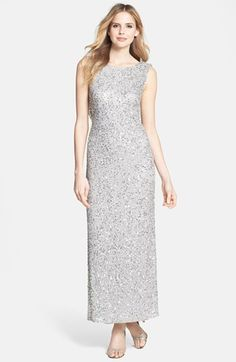 Pisarro Nights Beaded Drape Back Gown available at #Nordstrom