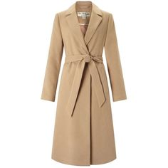 Miss Selfridge Camel Belted Midi Duster Coat ($150) ❤ liked on Polyvore featuring outerwear, coats, camel, calf length coat, beige coat, belted coat, camel belted coat and duster coat