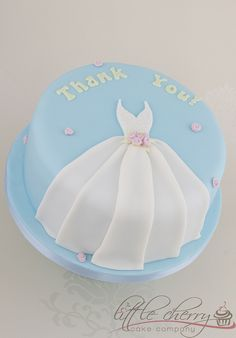 Thank-you Wedding Dress Cake by Little Cherry Cake Company, via Flickr