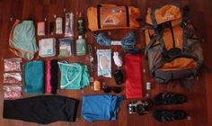 Sarah's Appalachian Trail Gear List. Her backpack is not typical of a normal AT Thru-Hiker because she will be sharing gear with Ricky. Also, they will be doing a section hike from Georgia to Virginia in the summer so winter clothing isn't needed.