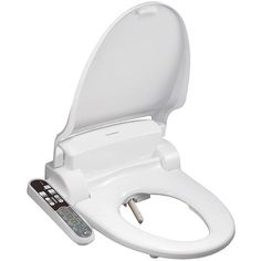 SmartBidet Electric Bidet Seat for Round Toilets - Electronic Heated Toilet Seat with Warm Air Dryer and Temperature Controlled Wash Functions (White) Feminine Wash, Steel Hose, Bidet Toilet Seat, Hand Held Shower, Control Panel, Choices, Safety, Cleaning, Toilets