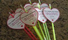'You make my heart glow!' Valentine