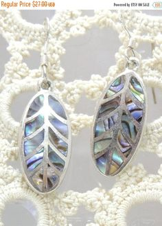 SPRING PRICE BREAK Sterling Silver Abalone by EstateHeirlooms